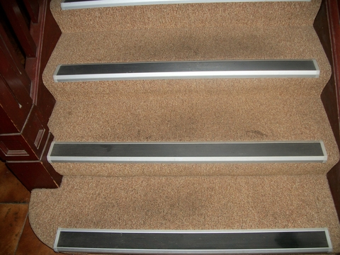 Carpeted Steps after GMS Property Care Treatment